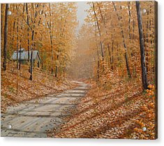Autumn Lane Acrylic Print