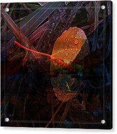 Acrylic Print featuring the digital art Autumn Leaf by Stuart Turnbull