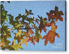 Acrylic Print featuring the photograph Autumn Leaves 3 by Jean Bernard Roussilhe