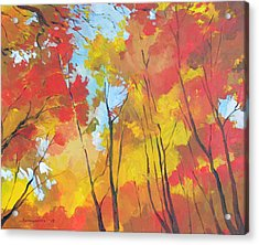 Autumn Leaves Acrylic Print by Alessandro Andreuccetti