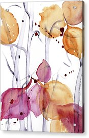 Acrylic Print featuring the painting Autumn Leaves by Dawn Derman