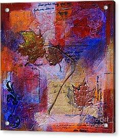 Autumn Leaves Acrylic Print by Ishita Bandyo