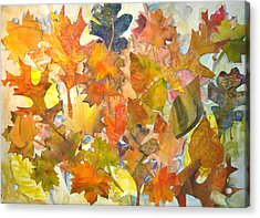 Autumn Leaves Acrylic Print by Joyce Kanyuk