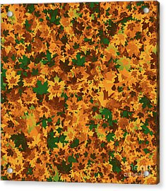 Autumn Leaves Pattern Acrylic Print by Methune Hively