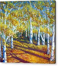 Autumn Light Acrylic Print by Sharon Marcella Marston