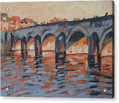Autumn Light Through The Saint Servaas Bridge Maastricht Acrylic Print