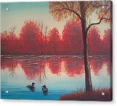 Autumn Loons Acrylic Print