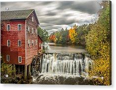Autumn Mill Acrylic Print by Mark Goodman