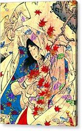 Autumn Moon Over Sumiyoshi 1880 Acrylic Print