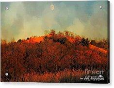 Autumn Moonrise Acrylic Print