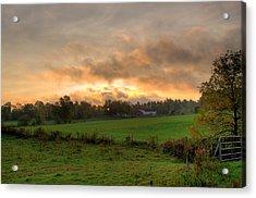 Autumn Morning Acrylic Print by David Bishop