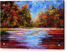 Autumn Morning Acrylic Print by Debra Hurd