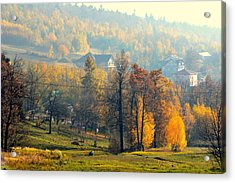 Autumn Morning Acrylic Print by Henryk Gorecki