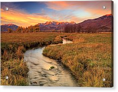 Autumn Morning In Heber Valley. Acrylic Print