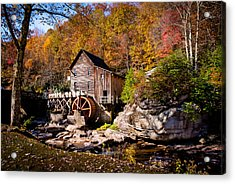 Autumn Morning In West Virginia Acrylic Print by Jeanne Sheridan