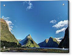 Acrylic Print featuring the photograph Autumn Morning Milford Sound by Gary Eason