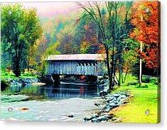 Autumn Morning Mist 2 Acrylic Print by Dan Dooley