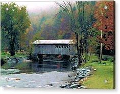 Autumn Morning Mist Acrylic Print by Dan Dooley