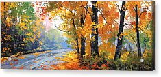Autumn Mt Wilson Acrylic Print