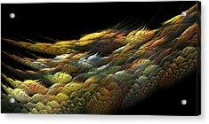 Acrylic Print featuring the digital art Autumn Nightfall by Richard Ortolano