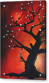 Autumn Nights - Abstract Tree Art By Fidostudio Acrylic Print by Tom Fedro - Fidostudio