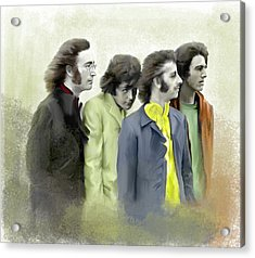 Autumn Of 68 The Beatles Acrylic Print by Iconic Images Art Gallery David Pucciarelli