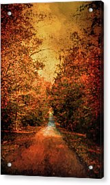 Autumn On Calvary Road Landscape Art Acrylic Print by Jai Johnson