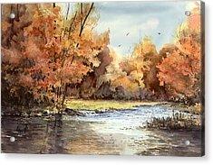 Autumn On The Buffalo Acrylic Print by Sam Sidders