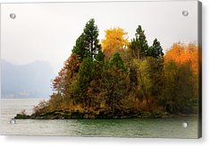 Acrylic Print featuring the photograph Autumn On The Columbia by Albert Seger