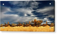 Acrylic Print featuring the painting Autumn On The Edge Of The Great Plains  by David Dehner