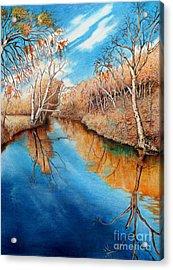 Autumn On The Elkhorn Acrylic Print