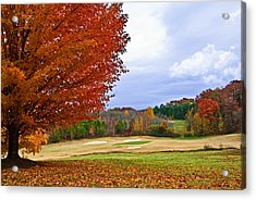 Autumn On The Golf Course Acrylic Print by Susan Leggett