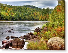 Acrylic Print featuring the photograph Autumn On The Hudson River by David Patterson