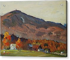 Autumn On The Mountain Acrylic Print by Len Stomski