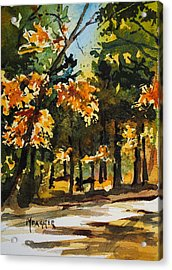 Autumn On The Natchez Trace Acrylic Print by Spencer Meagher
