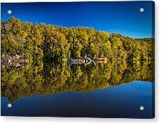 Autumn On The Potomac Acrylic Print by Robert Davis