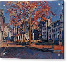 Autumn On The Square Of Our Lady Maastricht Acrylic Print