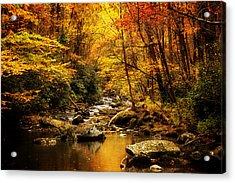 Autumn On The Tellico River Acrylic Print
