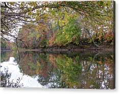 Acrylic Print featuring the photograph Autumn On The Water by Gregory Ballos