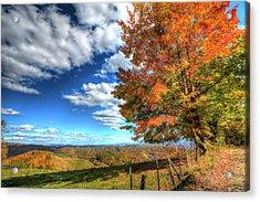 Autumn On The Windfall Acrylic Print