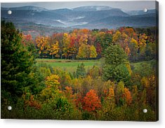 Acrylic Print featuring the photograph Autumn On Winslow Hill by Cindy Lark Hartman