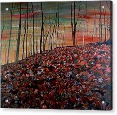 Autumn Acrylic Print by Oudi Arroni
