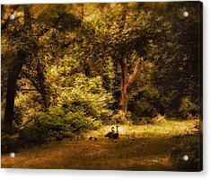 Autumn Outing Acrylic Print by Jessica Jenney