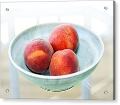 Autumn Peaches Acrylic Print by Marilyn Hunt