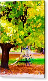 Autumn Playground Acrylic Print by Lanjee Chee