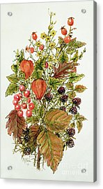Autumn Posy Acrylic Print by Nell Hill