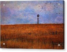 Autumn Prairie Windmill Acrylic Print