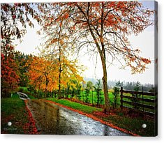 Autumn Rains Acrylic Print