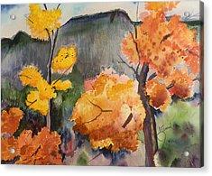 Autumn Rainy Day Acrylic Print