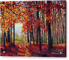 Acrylic Print featuring the painting Autumn Rapture by Hailey E Herrera